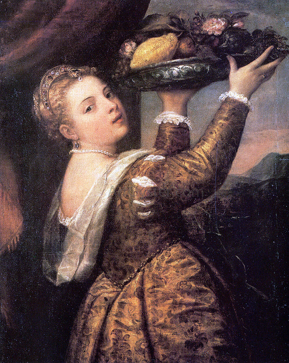 Titian Girl with a Basket of Fruits (Lavinia) - Canvas Art Print