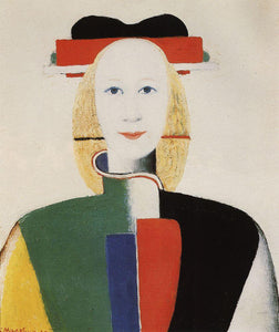 Kazimir Malevich Girl with a Comb in Her Hair - Canvas Art Print