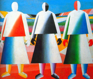 Kazimir Malevich Girls in the Fields - Canvas Art Print