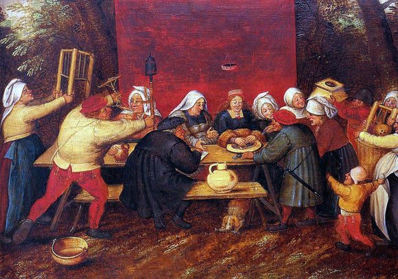 The Younger Pieter Bruegel Giving Presents at a Wedding - Canvas Art Print