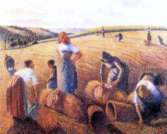 Winckworth Allan Gay Gleaners - Canvas Art Print