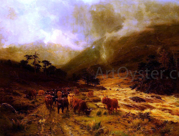 Louis Bosworth Hurt Glen Dochart, Perthshire - Canvas Art Print