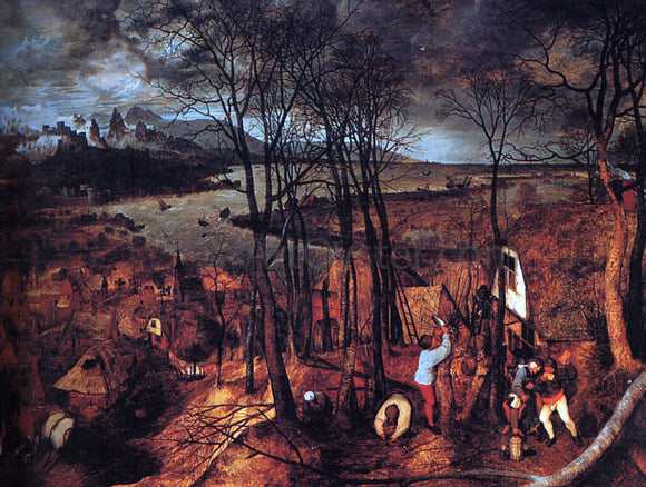 The Elder Pieter Bruegel Gloomy Day - Canvas Art Print