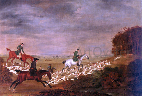 James Seymour Going To Cover; Sir William Jolliffe With His Hounds Riding Toward A Covert - Canvas Art Print