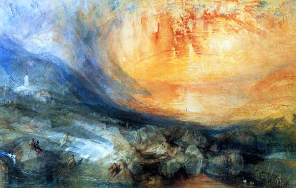 Joseph William Turner Goldau - Canvas Art Print