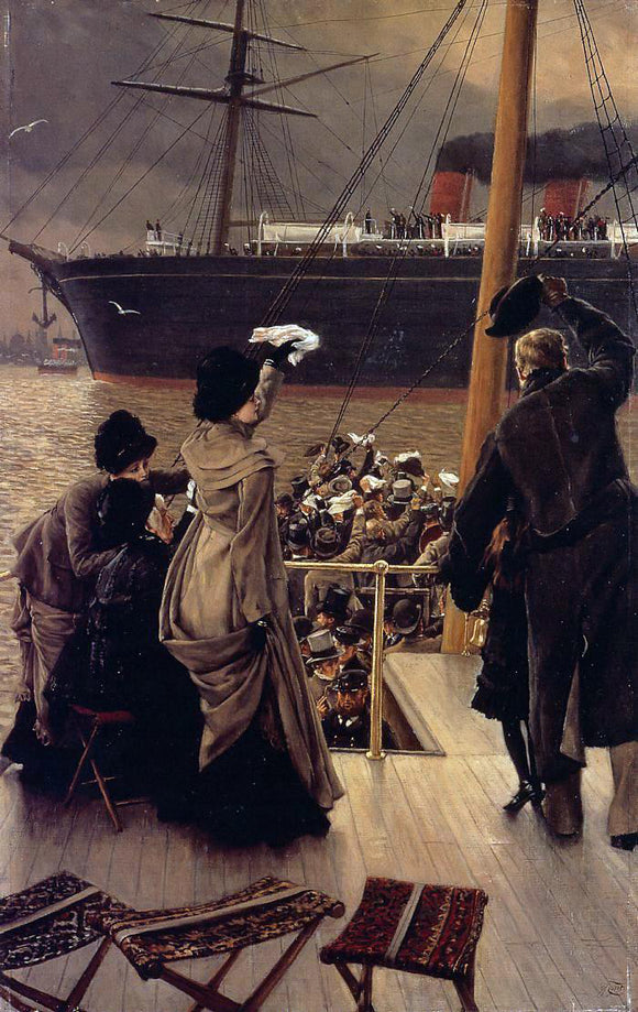 James Tissot Goodby, on the Mersey - Canvas Art Print