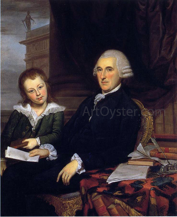 Charles Willson Peale Governor Thomas McKean and His Son, Thomas, Jr. - Canvas Art Print