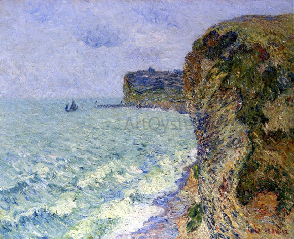 Gustave Loiseau Grainville Cliff near Fecamp - Canvas Art Print