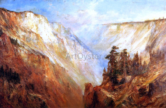 Lucien Whiting Powell Grand Canyon of the Yellowstone River - Canvas Art Print