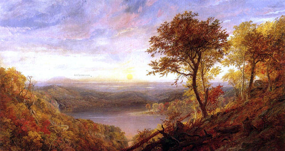 Jasper Francis Cropsey Greenwood Lake - Canvas Art Print