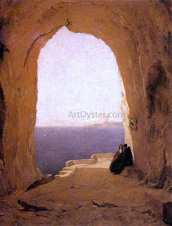 Carl Blechen Grotto in the Gulf of Naples - Canvas Art Print