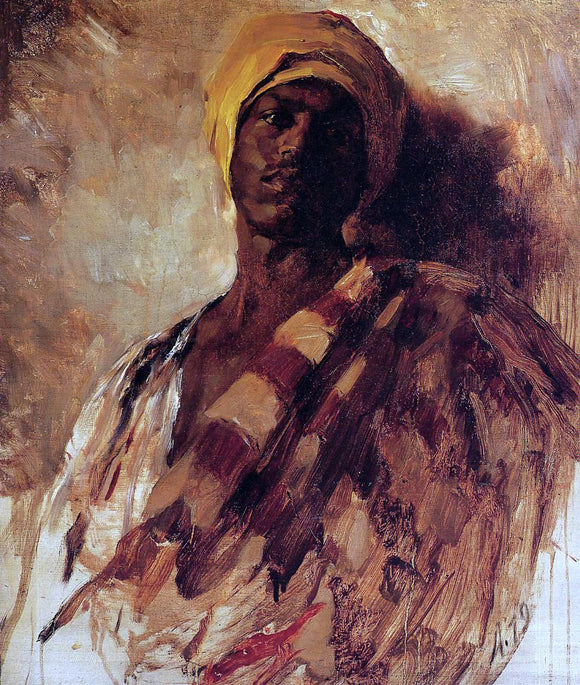 Frank Duveneck Guard of the Harem (study) - Canvas Art Print