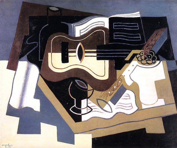Juan Gris Guitar with Clarinet - Canvas Art Print