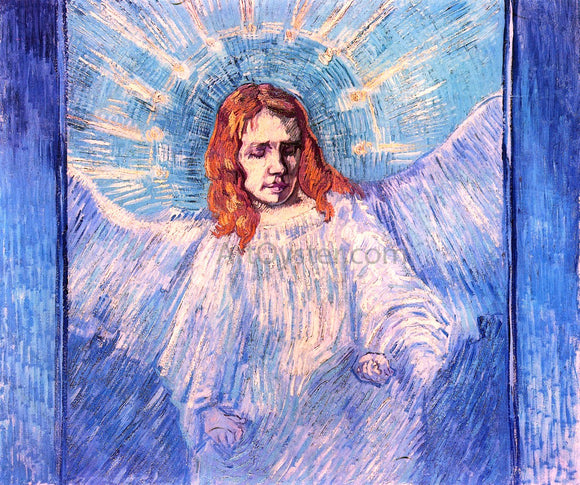 Vincent Van Gogh A Half-Figure of an Angel (after Rembrandt) - Canvas Art Print