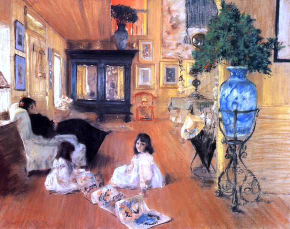 William Merritt Chase Hall at Shinnecock - Canvas Art Print