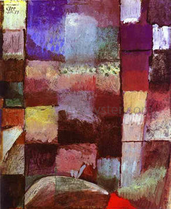 Paul Klee Hamamet - Canvas Art Print