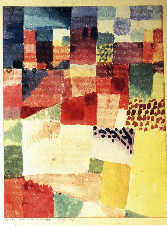 Paul Klee Hammamet - Canvas Art Print