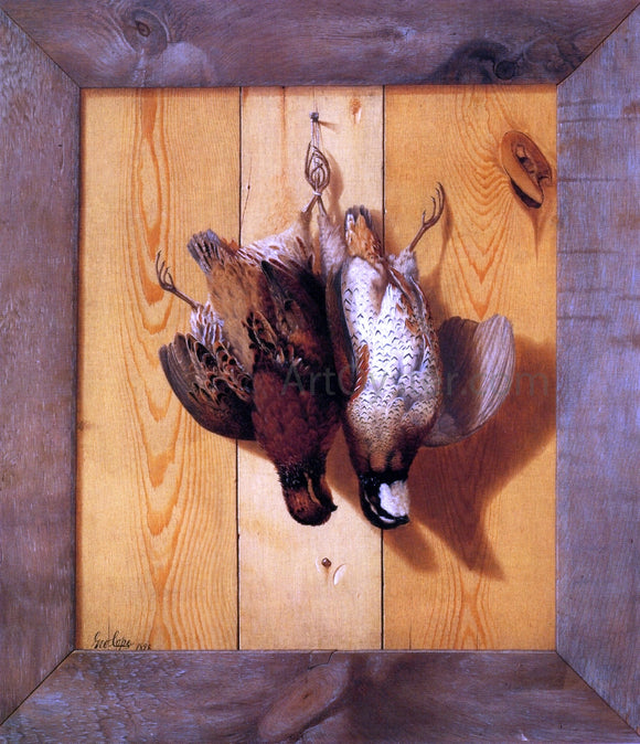 George Cope Hanging Quail - Canvas Art Print
