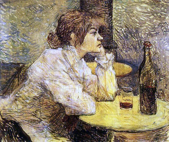 Henri De Toulouse-Lautrec Hangover (also known as The Drinker) - Canvas Art Print
