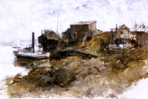 John Twachtman Harbor View - Canvas Art Print