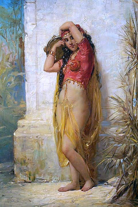 Joseph Bernard Harem Girl with Tambourine - Canvas Art Print