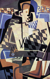Juan Gris Harlequin with a Guitar - Canvas Art Print