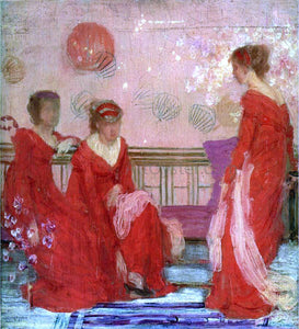James McNeill Whistler Harmony in Flesh Colour and Red - Canvas Art Print