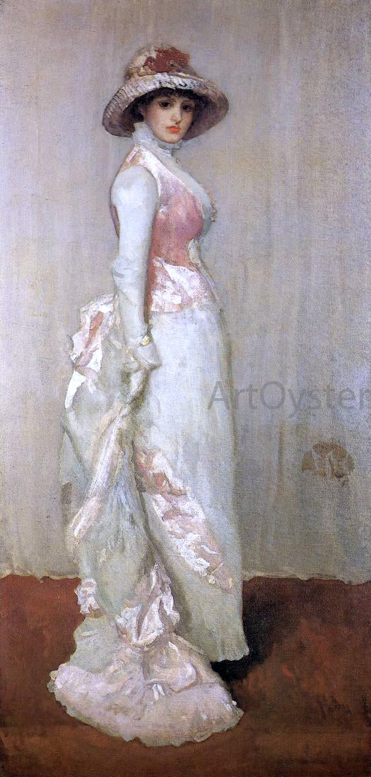 James McNeill Whistler Harmony in Pink and Grey: Valerie, Lady Meux - Canvas Art Print