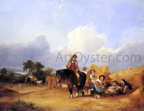 Senior William Shayer Harvest Time - Canvas Art Print