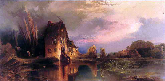 Thomas Moran Haunted House - Canvas Art Print