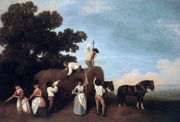 George Stubbs Haymaking - Canvas Art Print