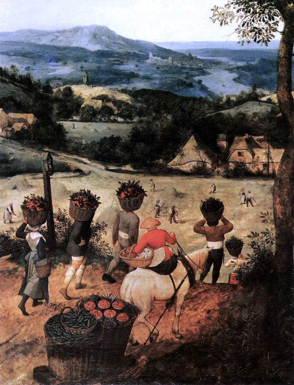 The Elder Pieter Bruegel Haymaking (detail) - Canvas Art Print