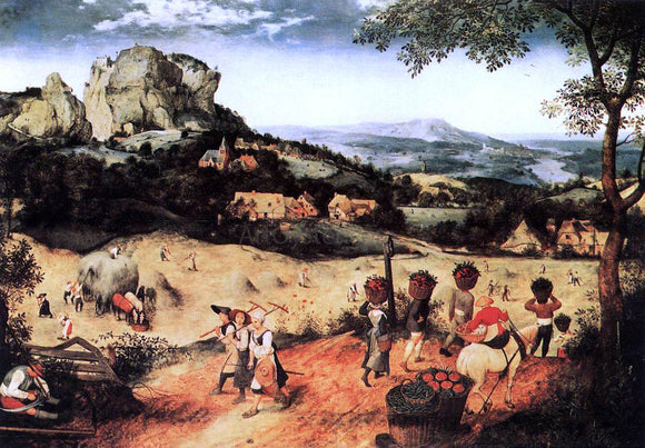 The Elder Pieter Bruegel Haymaking (July) - Canvas Art Print