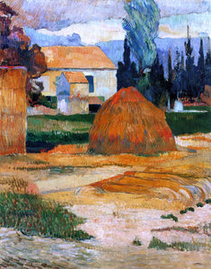 Paul Gauguin Haystack, near Arles - Canvas Art Print