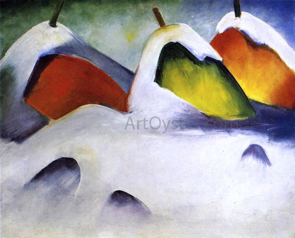 Franz Marc Haystacks in the Snow - Canvas Art Print