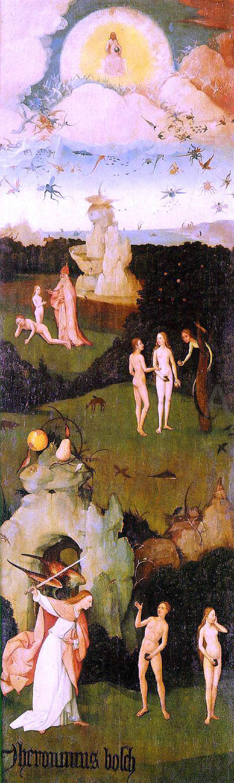 Hieronymus Bosch Haywain, left wing of the triptych - Canvas Art Print