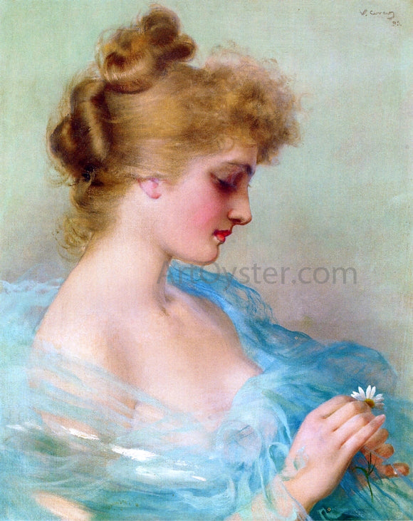 Vittorio Matteo Corcos He Loves Me, He Loves Me Not - Canvas Art Print