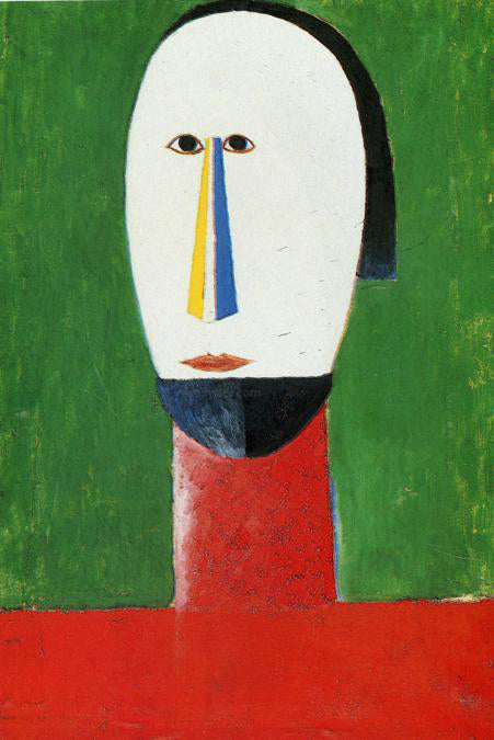 Kazimir Malevich Head - Canvas Art Print
