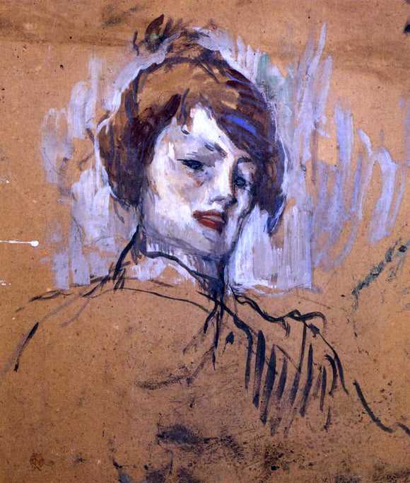 Henri De Toulouse-Lautrec Head of a Woman - Canvas Art Print