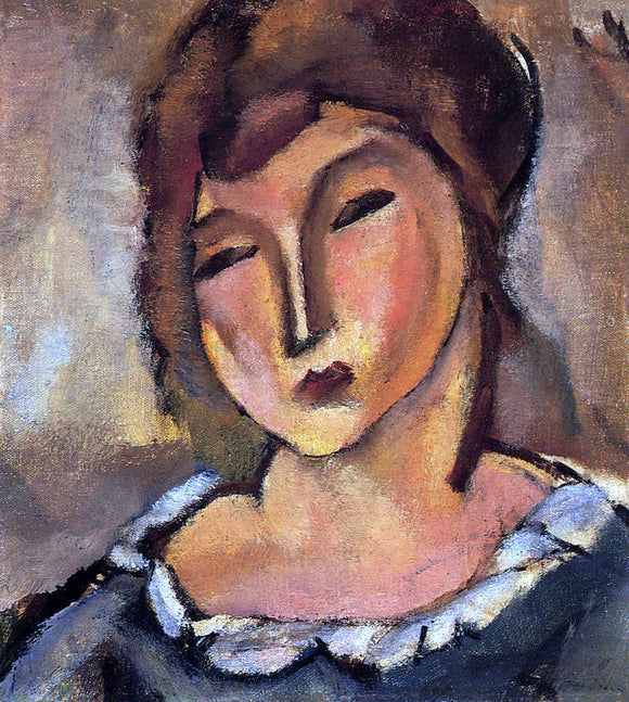Jules Pascin Head of a Young Woman - Canvas Art Print