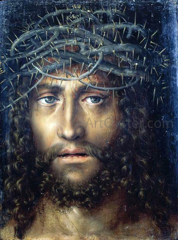 The Elder Lucas Cranach Head of Christ Crowned with Thorns - Canvas Art Print