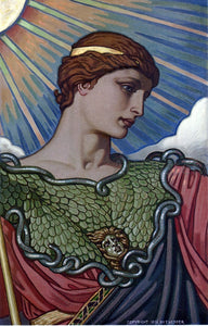Elihu Vedder Head of Minerva - Canvas Art Print
