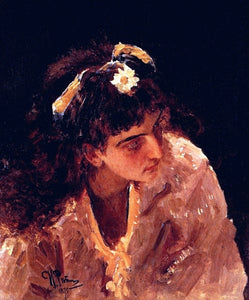 Ilia Efimovich Repin Head of Woman (etude) - Canvas Art Print