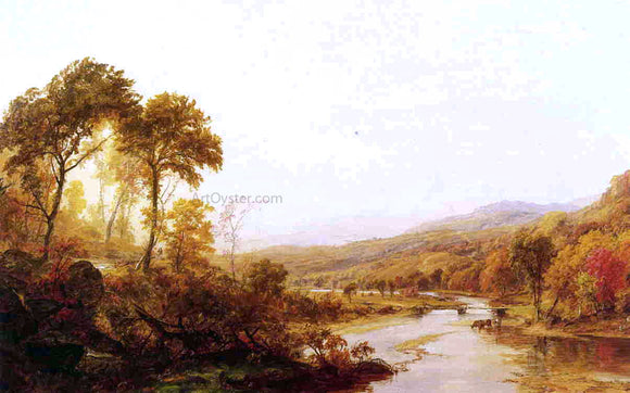 Jasper Francis Cropsey Headwaters of the Hudson - Canvas Art Print