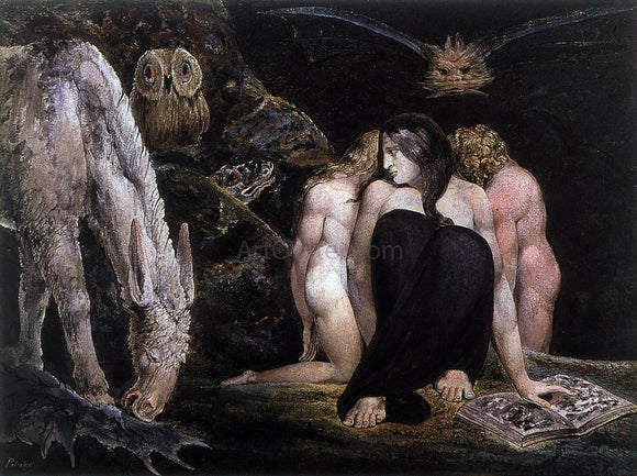 William Blake Hecate or the Three Fates - Canvas Art Print