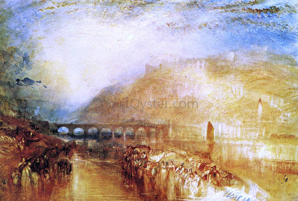 Joseph William Turner Heidelberg - Canvas Art Print