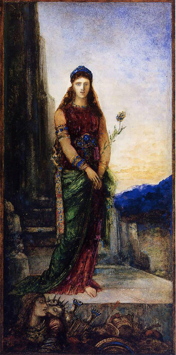 Gustave Moreau Helen on the Walls of Troy - Canvas Art Print