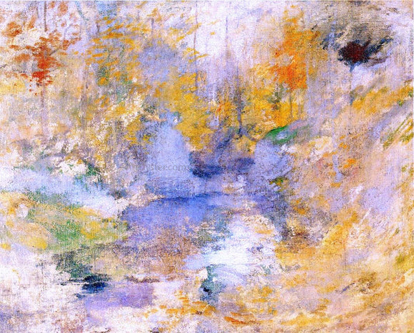 John Twachtman Hemlock Pool (also known as Autumn) - Canvas Art Print