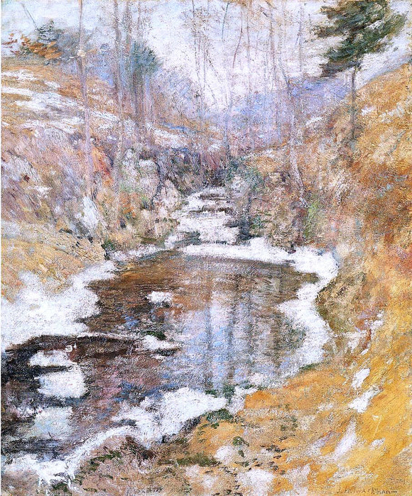 John Twachtman Hemlock Pool - Canvas Art Print
