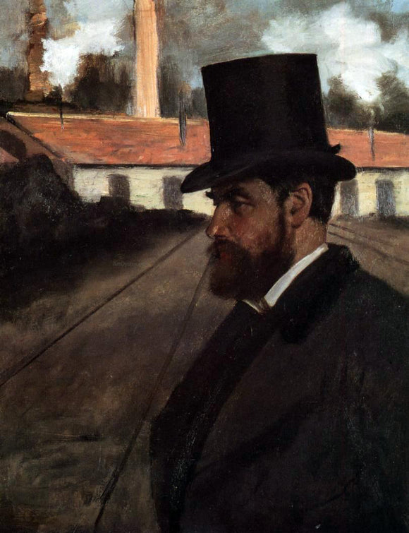 Edgar Degas Henri Rouart in Front of His Factory - Canvas Art Print